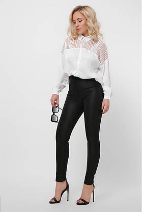 Нарядная белая шелковая блузка, фото 2