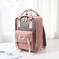 Рюкзак Doughnut розовый + сумочка Doughnut в подарок Код 11-0070