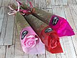 Подарочный цветок Роза из мыла 26см красная, фото 4