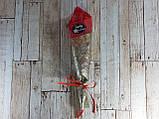 Подарочный цветок Роза из мыла 26см красная, фото 2