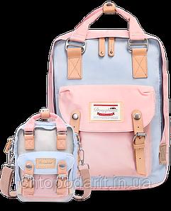 Рюкзак Doughnut пудра + сумочка Doughnut в подарок Код 11-0085