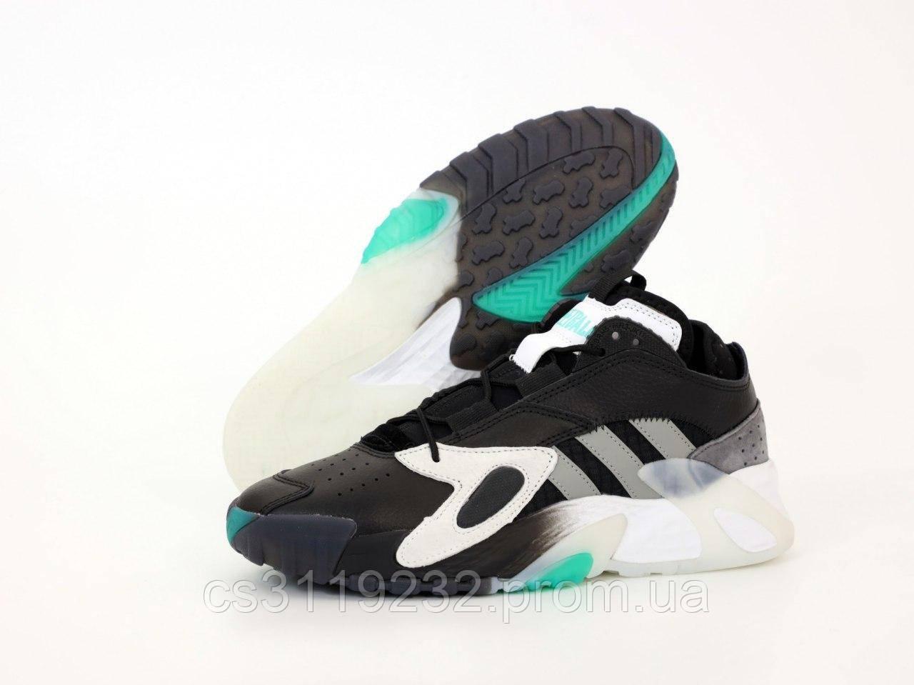 Чоловічі кросівки Adidas Streetball (чорний/сірий/бірюза)