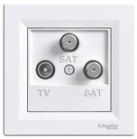 Розетка TV-SAT-SAT 1 dB концевая белый Asfora, EPH3600121