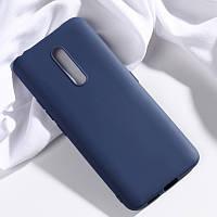 Чехол Soft Touch для Vivo X27 Pro силикон бампер темно-синий