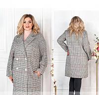 / Размер 48-50,52-54,56-58,60-62 / Женское стильное пальто большого размера / 775СБ-Бордо