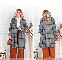 / Размер 48-50,52-54,56-58,60-62 / Женское стильное пальто большого размера / 775СБ-Темно-Синий