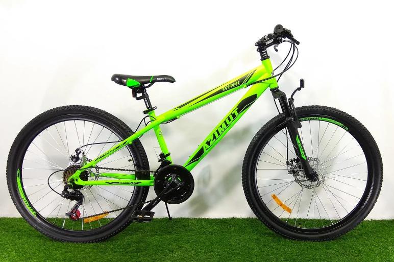 Горный велосипед Azimut Extreme 26 D Салатово-черный