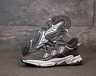 """Кроссовки кожаные мужские Adidas Ozweego 2 """"Черные"""" р. 41-45"""
