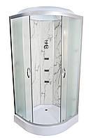 Душевой бокс TKF90 / 1 Белый Мрамор BG 90х90х3 прозрачное стекло, низкий поддон, А0045724