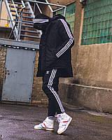 Зимний комплект в стиле Adidas Originals черный