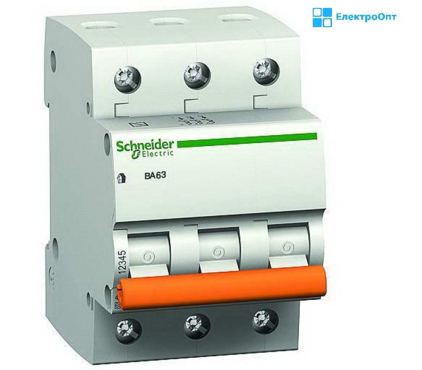 Автоматический выключатель ВА63 3П10C трехполюсный Schneider Домовой
