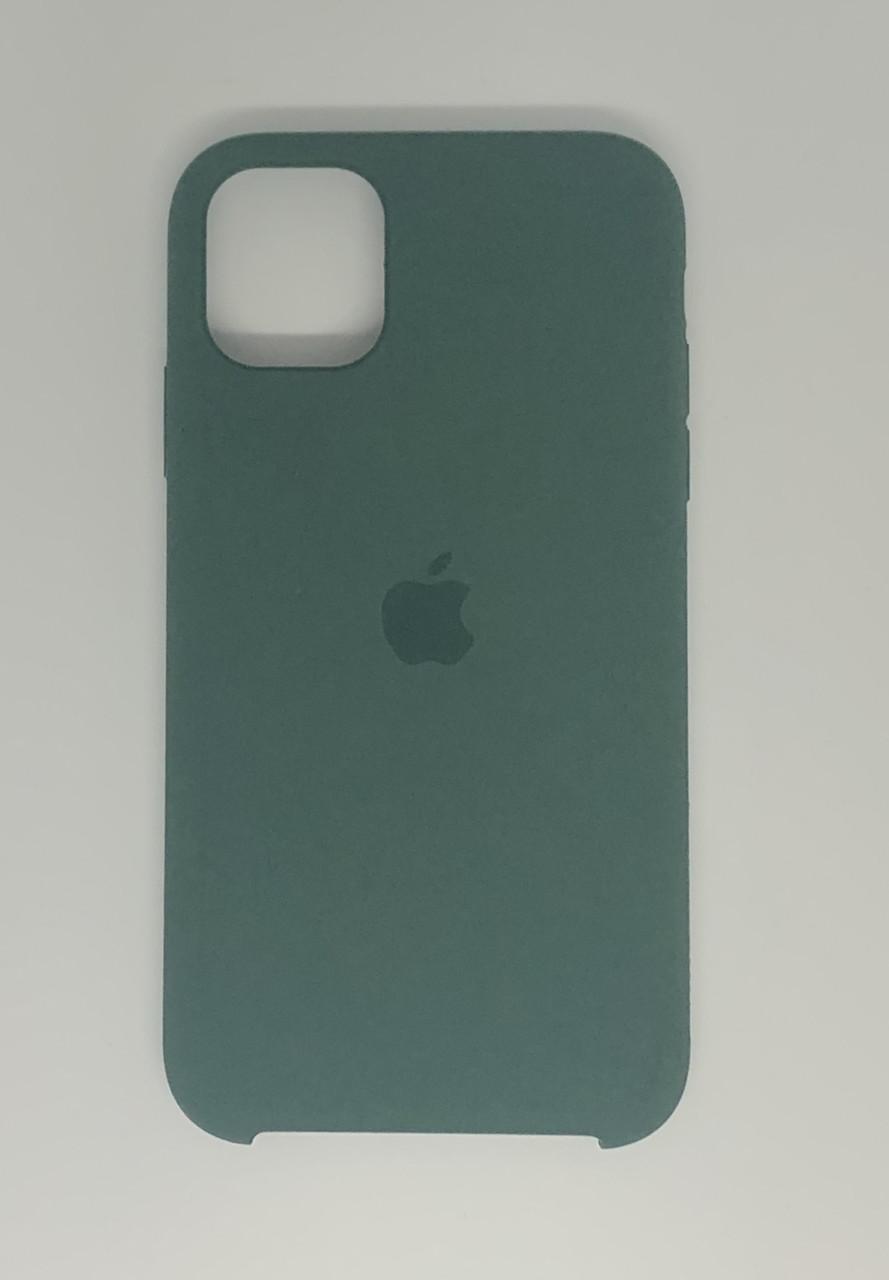 "Чехол Silicon iPhone 11 - ""Pine green №58"""