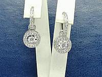 Золоті сережки з фіанітами. Артикул СВ263БИ, фото 1