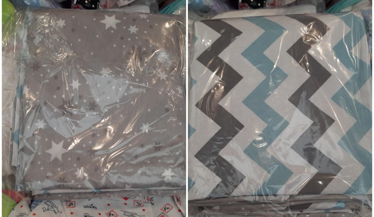 Сменное постельное белье в кроватку двустороннее