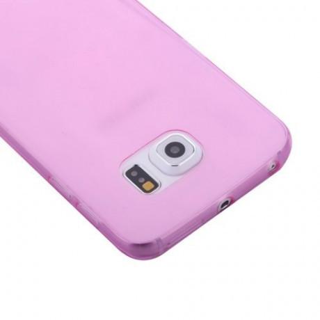 Силиконовый чехол для Samsung Galaxy S6 Edge G925 розовый