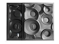 """Комплект форм """"Кольца"""" для 3D перегородок из двухсторонних блоков, фото 1"""
