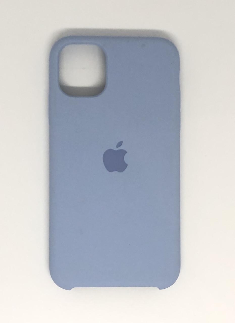 "Чехол Silicon iPhone 11 - ""Кремово-лиловый №5"""