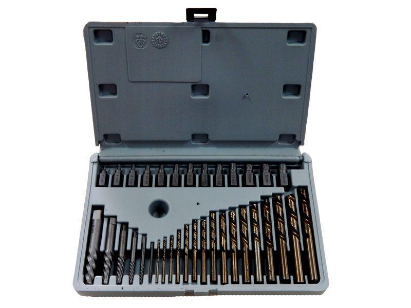 Набор головок-экстракторов для извлечения поврежденных болтов 35пр.