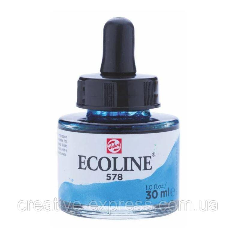 Фарба акварельна рідка Ecoline (578), Небесно-блакитна, 30 мл, Royal Talens
