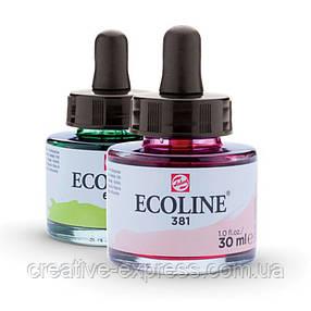 Фарба акварельна рідка Ecoline (545), Червоно-фіолетова, 30 мл, Royal Talens, фото 2
