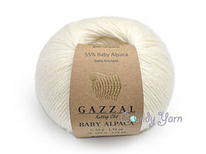 Gazzal Baby Alpaca, Белый №46001