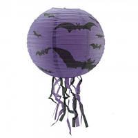 Декор подвесной (40см) фиолетовый с летучей мышью