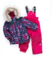 Зимний комплект для девочки NANO F19M262 Marine / Lollipop. Размер 4.