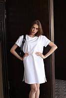Платье-футболка женское белое бренд ТУР модель Сарина (Sarina) размер  S, M, L S