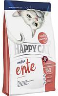 Сухой корм Happy Cat Sensitive Ente для взрослых кошек с чувствительным пищеварением, со вкусом утки и риса, 300 г