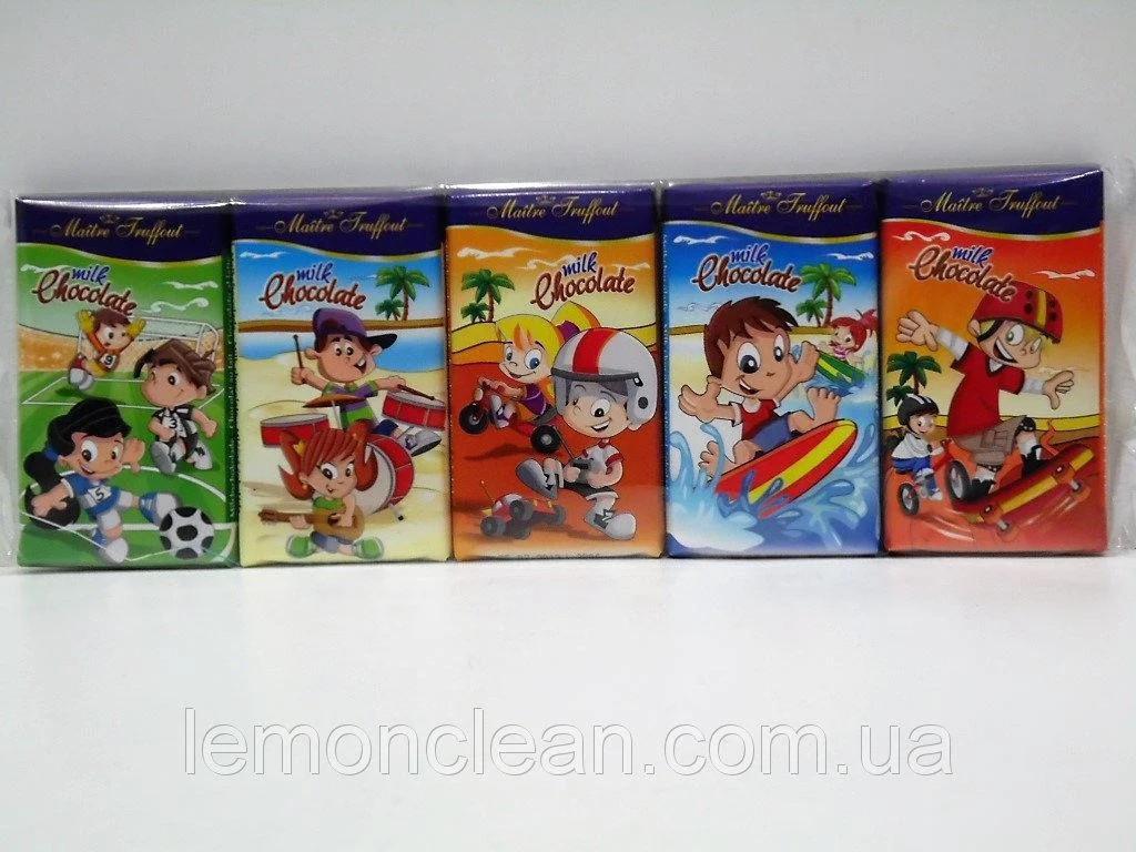 Шоколад молочный (мини) Maitre Truffout Milk Chocolate 5х15 г Австрия