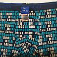 Труси чоловічі боксери ІНСАН букви сині 48 розмір, фото 4