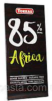 Шоколад черный без сахара и глютена Torras Africa 85% какао 100 г Испания