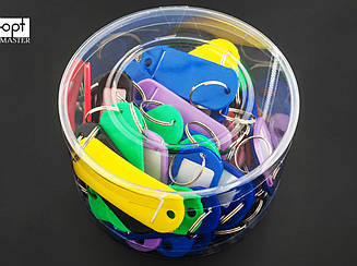Бирки для ключей цветные 40 шт в упаковке