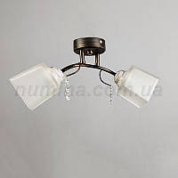 Люстра потолочная на две лампочки (Бронза) 1-53915/2C