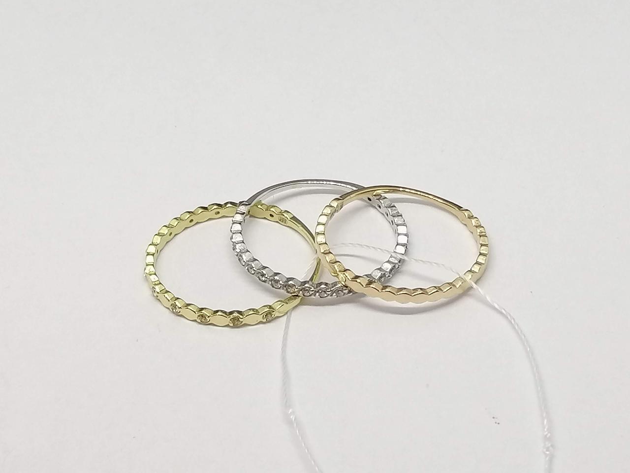 Золотое кольцо с фианитами. Артикул КВ1384КИ 16,5