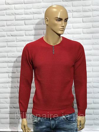 Стильний светр з V-образною горловиною, фото 2