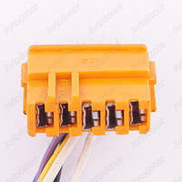 Разъем автомобильный 5-pin/контактный. 27×10 mm. Б.У. 41701
