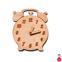 Заготовка для Бизиборда Деревянные ЧАСЫ Будильник со Стрелками Дерев'яні годинники для бізіборда, фото 1