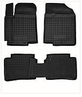 Коврики в салон Hyundai Accent 2011-  черный, кт - 4шт