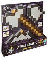 Набор Трансформер 3 В 1 Железная Кирка - Топор - Лопата Minecraft