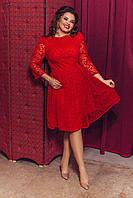 Женское элегантное платье с кружевной сеткой т.м. Амбре AM1740, фото 1