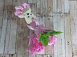 Подарочный набор Мишка и Роза из мыла 28.5см розовый, фото 3