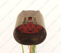 Разъем автомобильный 12-pin/контактный. Папа. 33×28 mm. Б.У