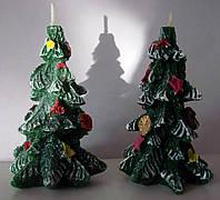 Свеча ароматизированная с хвойным запахом ель новогодняя заснеженная