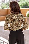 Женская блуза в леопардовый принт бежево-коричневая, фото 5