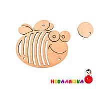 Заготовка Пчелка - Трещотка для бизиборда Деревянная Деталь Дерев'яна тріскавка для бізіборда, фото 1