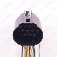 Разъем автомобильный 11-pin/контактный. Мама. 36×30 mm. Б.У