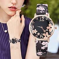 Женские наручные часы с цветочным принтом, фото 1