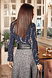 Расклешенная юбка-миди в деловом стиле с поясом из экокожи, фото 3