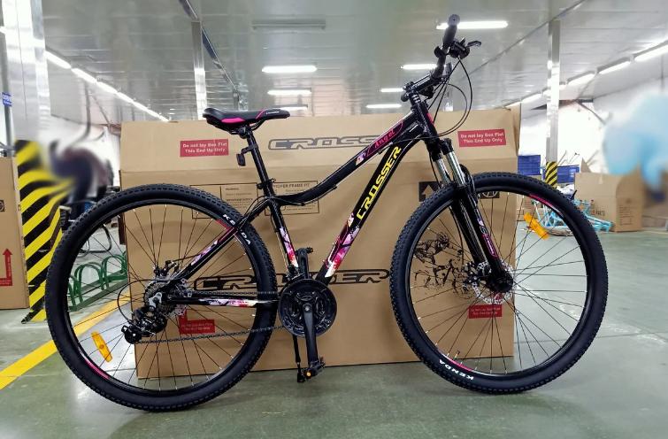 """Гірський жіночий велосипед Crosser Angel 29"""" Чорний"""